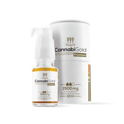 CannabiGold Premium 12ml – 1500mg CBD, max. 0,2% THC