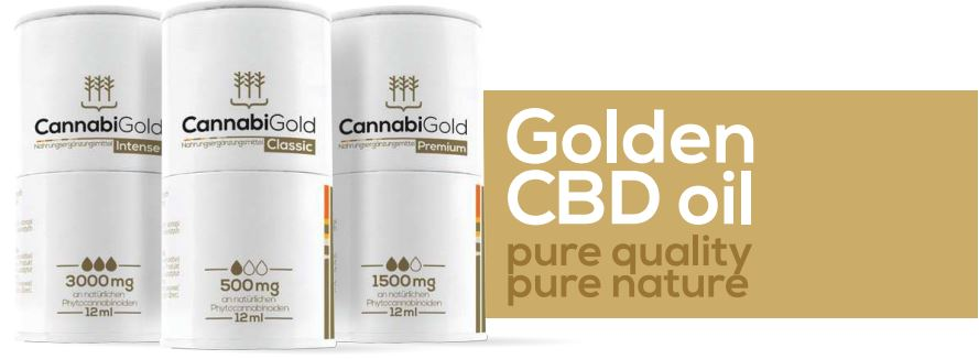 Golden CBD oil - pure quality, pure nature